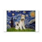 Starry / Fox Terrier (W) Car Magnet 20 x 12