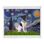 Starry / Fox Terrier (#1) Throw Blanket