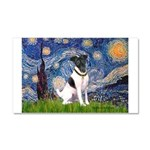 Starry / Fox Terrier (#1) Car Magnet 20 x 12