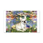 Lilies / Fr Bulldog (f) 20x12 Wall Decal
