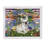Lilies / Fr Bulldog (f) Throw Blanket