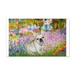 Garden / Fr Bulldog(f) 20x12 Wall Decal