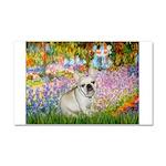 Garden / Fr Bulldog(f) Car Magnet 20 x 12