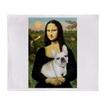 Mona / Fr Bulldog (f) Throw Blanket