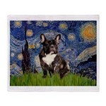 Starry / Fr Bulldog(brin) Throw Blanket