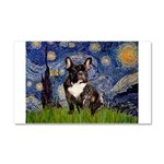 Starry / Fr Bulldog(brin) Car Magnet 20 x 12