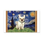 Starry/French Bulldog 20x12 Wall Decal