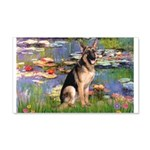 Lilies & G-Shep 20x12 Wall Decal