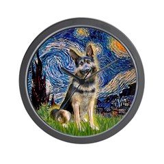 Starry / German Shepherd 10 Wall Clock