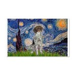 Starry Night /German Short 20x12 Wall Decal
