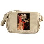 The Lady's Golden Messenger Bag