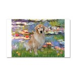 Lilies & Golden Car Magnet 20 x 12