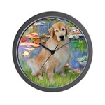 Lililes (#2)-Golden 10 Wall Clock