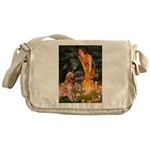 Fairies & Golden Messenger Bag
