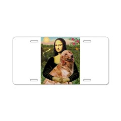 Mona's Golden Retriever Aluminum License Plate