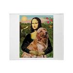 Mona's Golden Retriever Throw Blanket