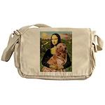 Mona's Golden Retriever Messenger Bag