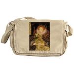 The Queen's Golden Messenger Bag