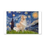 Starry Night & Golden Car Magnet 20 x 12