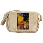 Cafe & Golden Messenger Bag