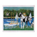 Sailboats / Gr Dane (h) Throw Blanket