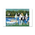 Sailboats / Gr Dane (h) Car Magnet 20 x 12