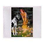 Fairies / Gr Dane (h) Throw Blanket