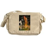 Fairies / Gr Dane (h) Messenger Bag