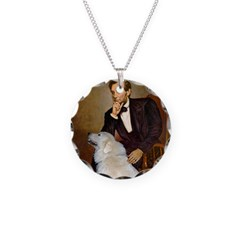 Lincoln / Great Pyrenees Necklace Circle Charm