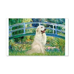 Bridge / Great Pyrenees 20x12 Wall Decal