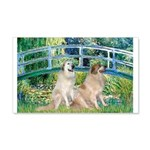 Bridge / Great Pyrenees (2) 20x12 Wall Decal