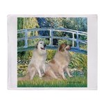 Bridge / Great Pyrenees (2) Throw Blanket