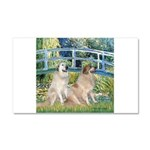 Bridge / Great Pyrenees (2) Car Magnet 20 x 12