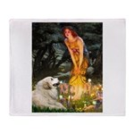 Fairies / Gr Pyrenees Throw Blanket