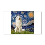 Starry Night / Pyrenees Car Magnet 20 x 12