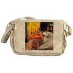 Cafe / Great Pyrenees Messenger Bag