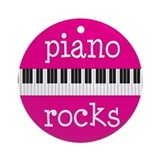 Music Gift Piano Rocks Ornament
