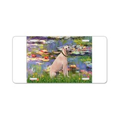 Lilies2/Greyhound (f) Aluminum License Plate