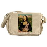 Mona Lisa / Greyhound #1 Messenger Bag