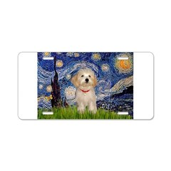 Starry / Havanese Aluminum License Plate