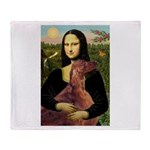 Mona /Irish Setter Throw Blanket