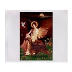 Angel / Irish Setter Throw Blanket