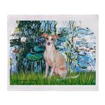 Lilies / Ital Greyhound Throw Blanket