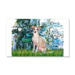 Lilies / Ital Greyhound Car Magnet 20 x 12