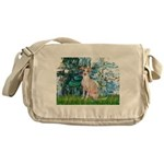 Lilies / Ital Greyhound Messenger Bag