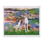 Lilies2/Italian Greyhound Throw Blanket