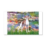 Lilies2/Italian Greyhound Car Magnet 20 x 12
