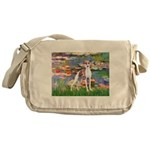 Lilies2/Italian Greyhound Messenger Bag