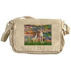 Lilies2/Italian Greyhound Messenger Bag