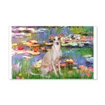 Lilies / Ital Greyhound 20x12 Wall Decal
